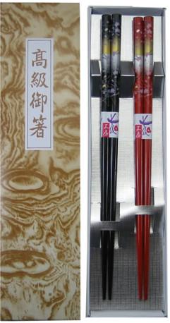 塗箸2膳用箱 高級御箸 銀台紙