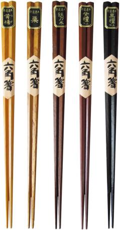 天然木六角箸 5種
