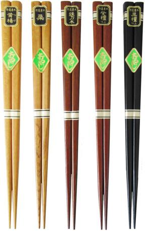 天然木箸 一半仕上げ 5種