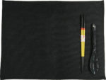 若狭塗箸&スプーン&ランチョンマットセット 食洗機対応 光琳吹雪 黒