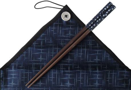 マイ箸舞花かすり 紺