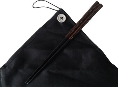 マイ箸染分彫 黒