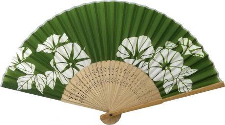 すす竹扇子 朝顔 緑