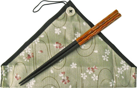 マイ箸彩華染分彫 茶