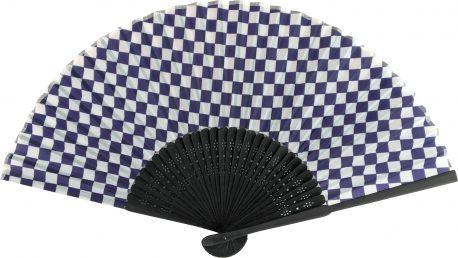 黒竹扇子 紫紺市松