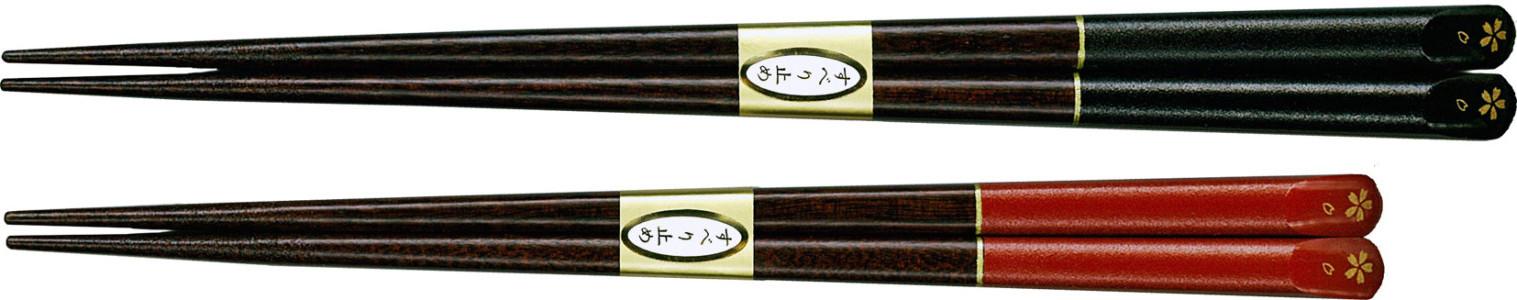 塗箸 新桜家紋